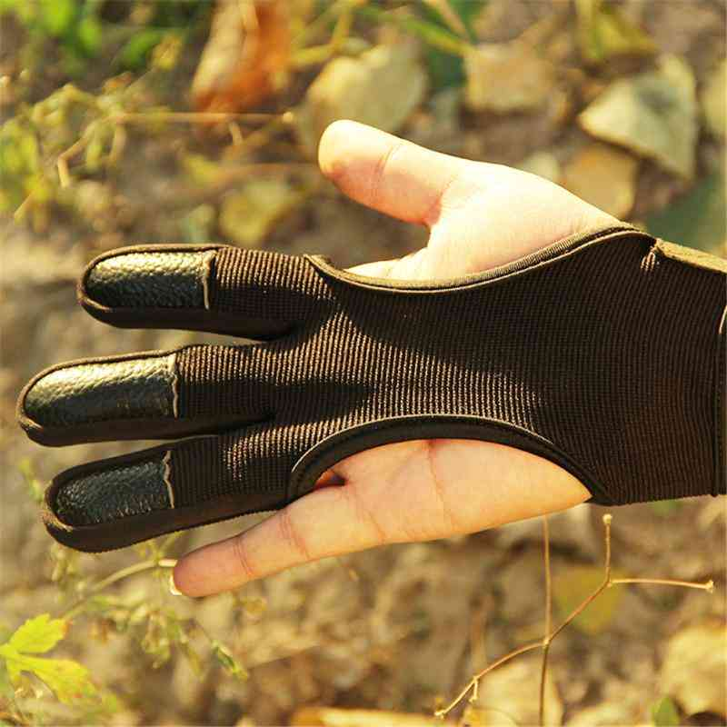 Knitted Leather Hand Protection Glove For Archery