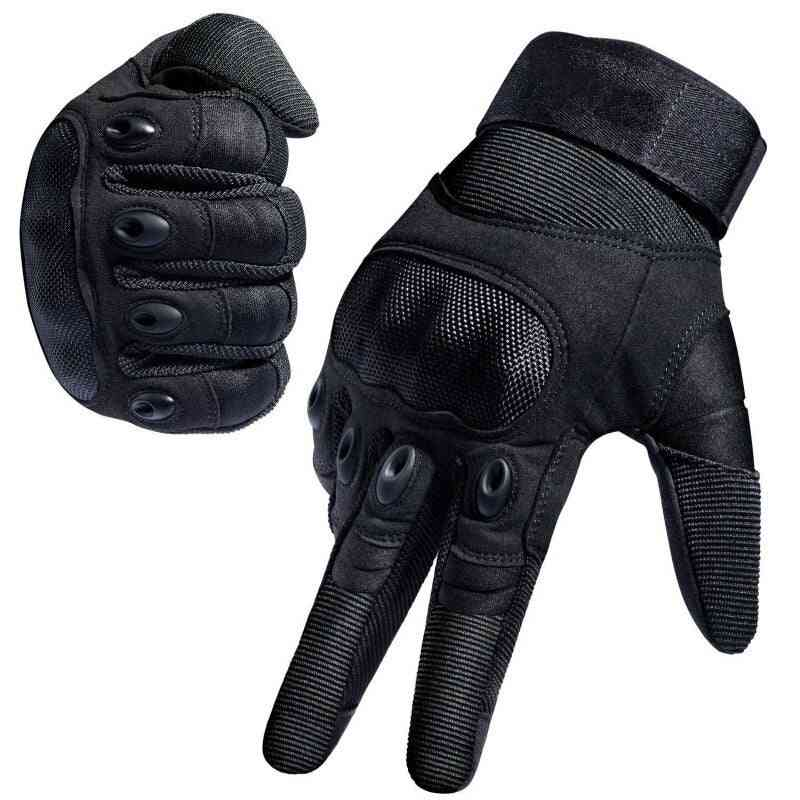 Touch Screen, Hard Knuckle Full Finger Gloves For Hunting, Riding Motorcycle, Cycling