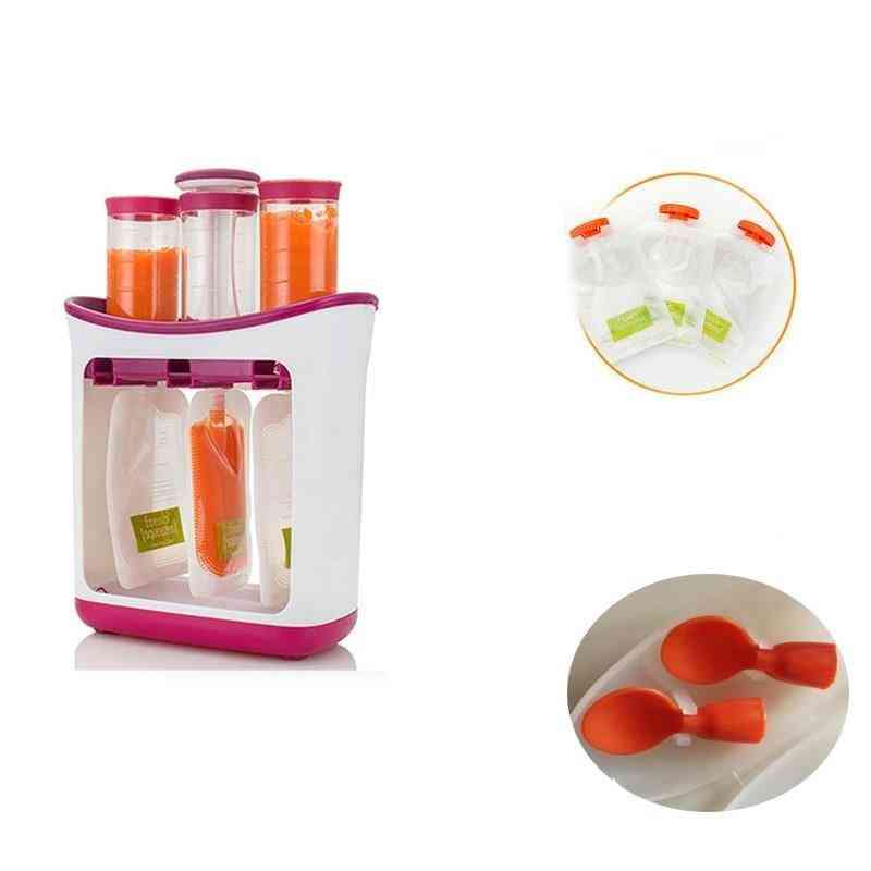 Baby Food Squeeze Station And Storage Container