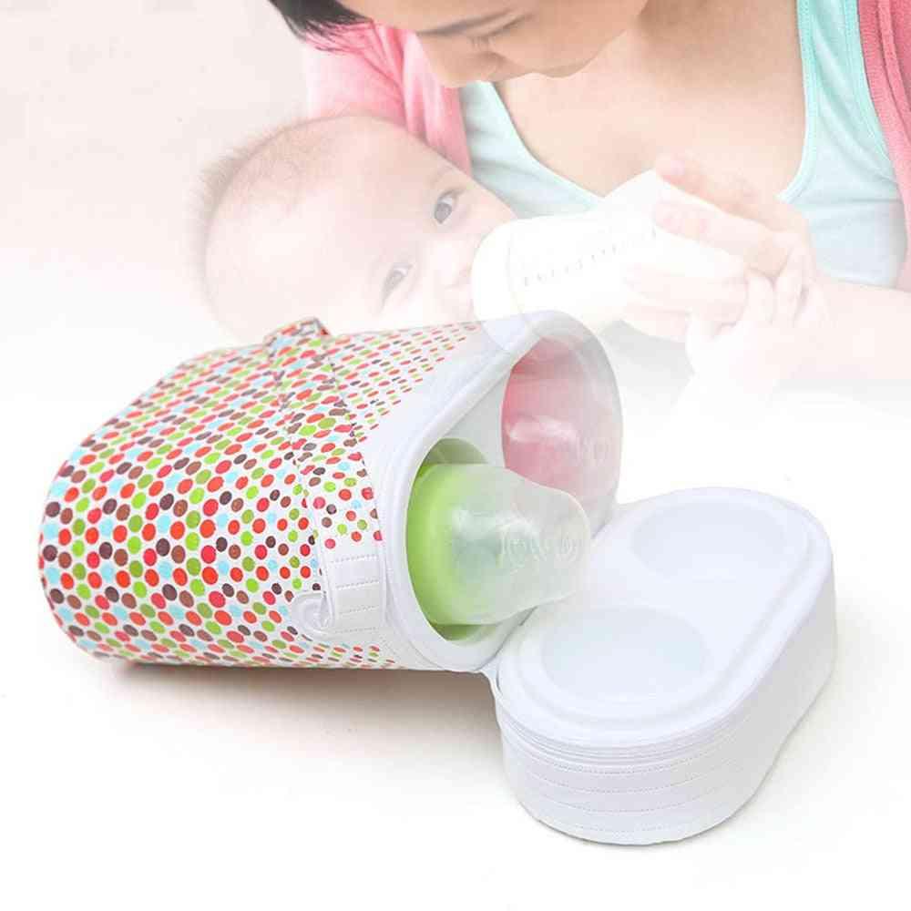 Cartoon Portable Baby Bottle Insulation Mummy Handbag, Milk Thermal Food Warm Bags