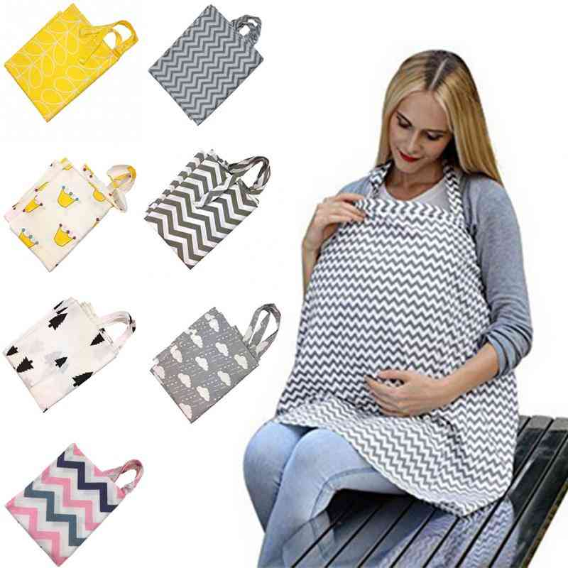 Cotton Maternity Infant Breathable Nursing, Baby Breastfeeding Cover