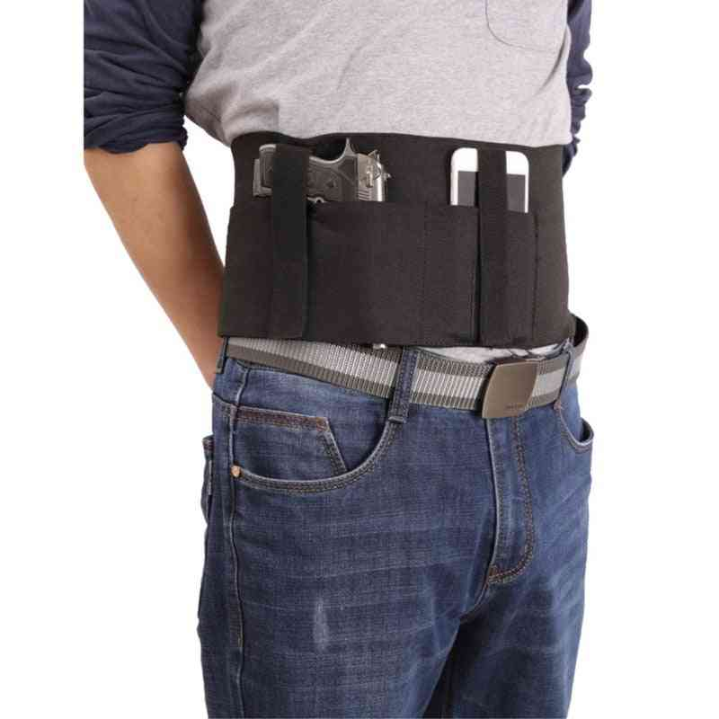 Concealed Carry Ultimate Bellyband Holster Gun Pistol Holsters With 2 Mag Pouche