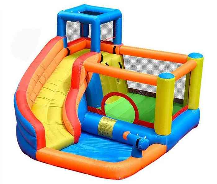 Inflatable Outdoor Water Slide With Swimming Pool And Gun Bouncer Castle