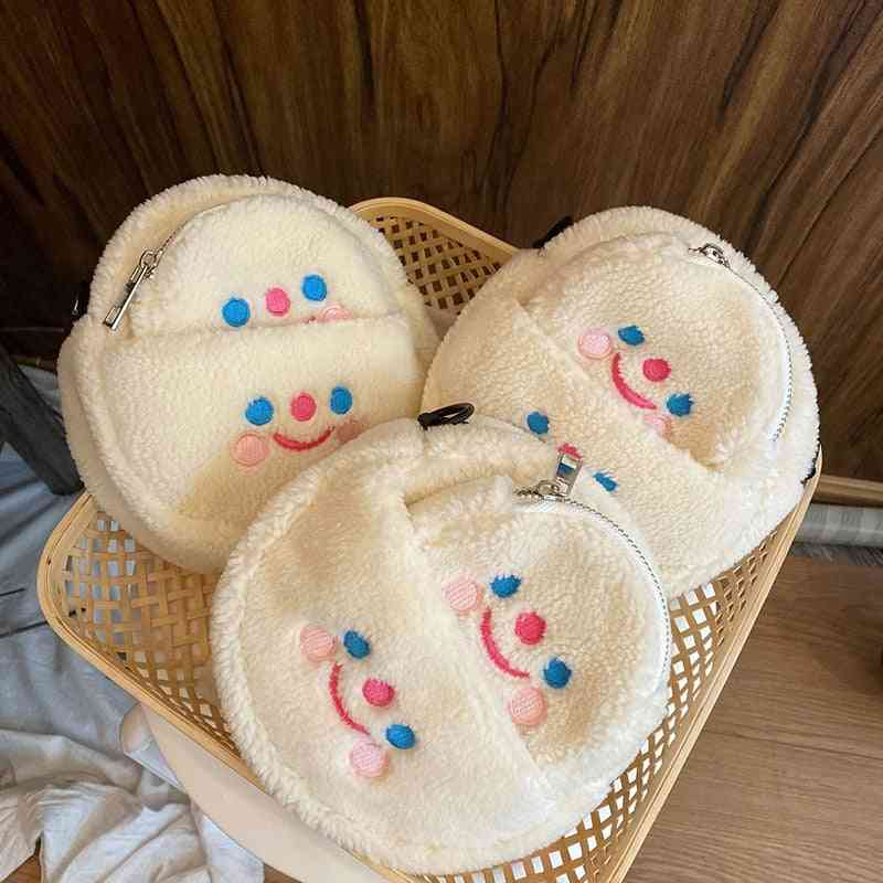 Cute Cartoon Fluffy Soft Stuffed Coin Bag Purse Toy