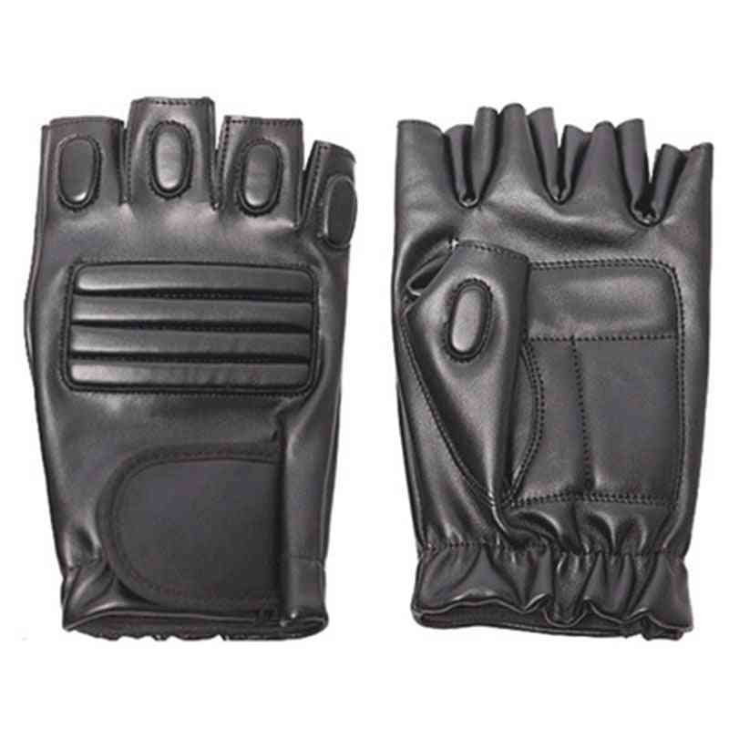 Men's Outdoor Exercise Sport Half Finger Leather Cycling Gloves