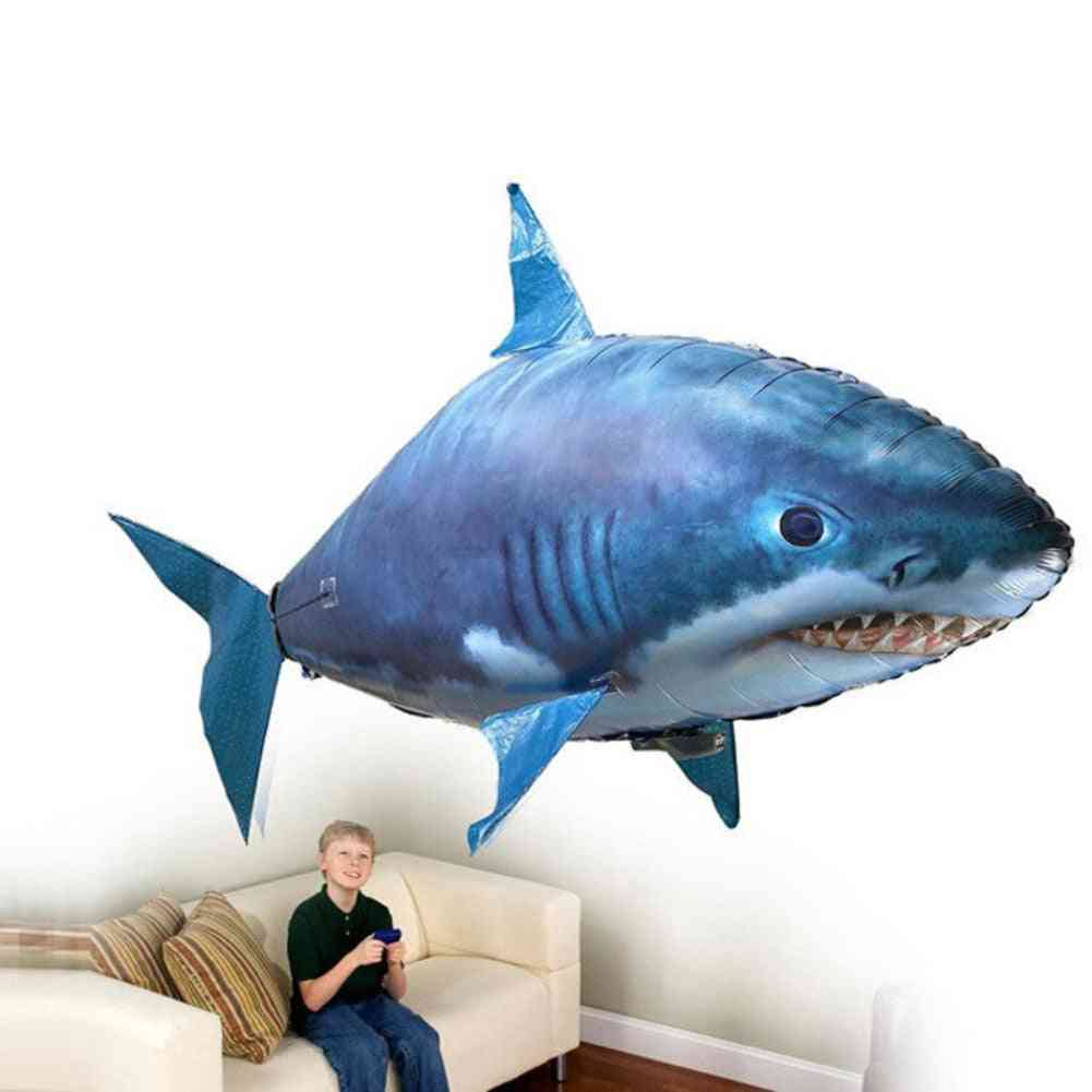 Remote Control Flying Shark Fish, Rc Radio Air Swimmer Inflatable Blimp Helicopter