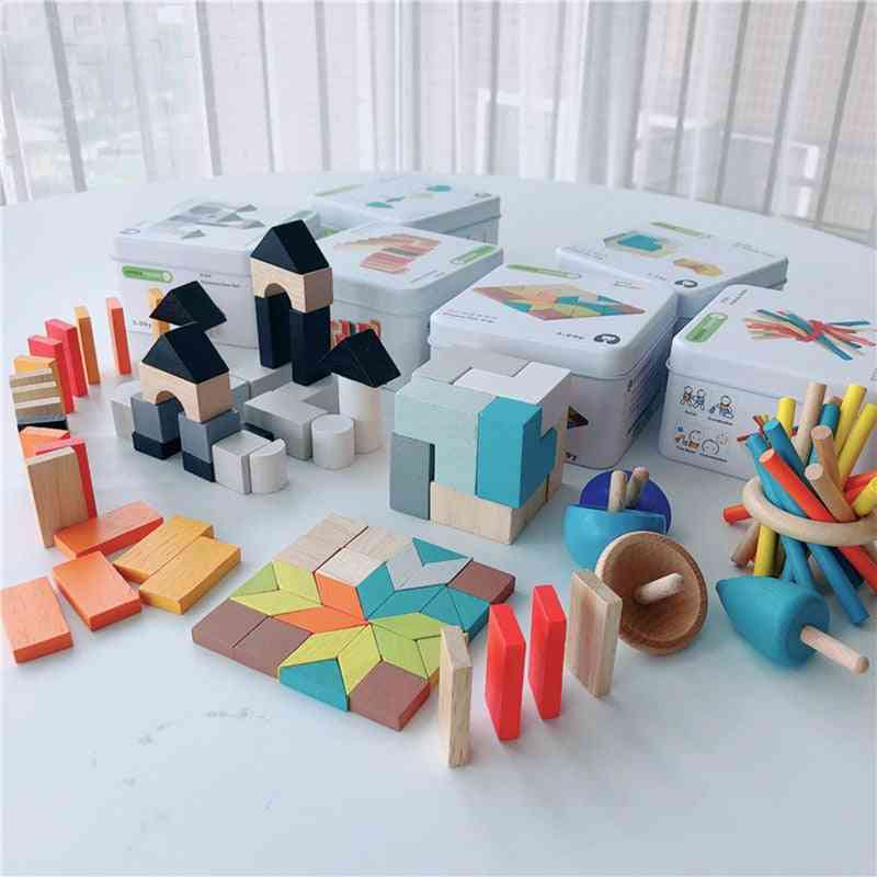 Wooden Building Block For-early Learning