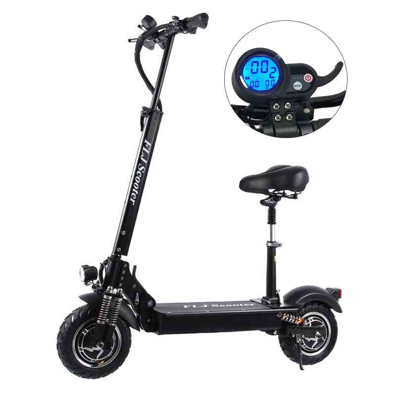 Electric Scooter With Seat Foldable Hoverboard And Fat Tire