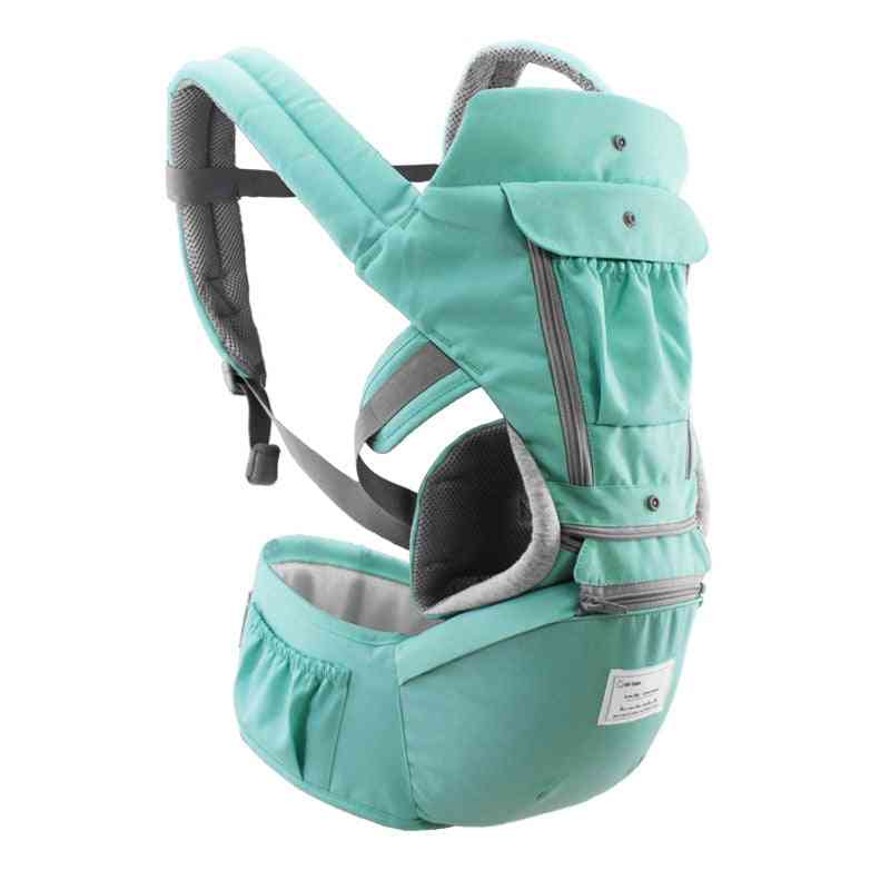 Breathable Ergonomic Baby Carrier Backpack, Portable Infant Kangaroo Hip Seat