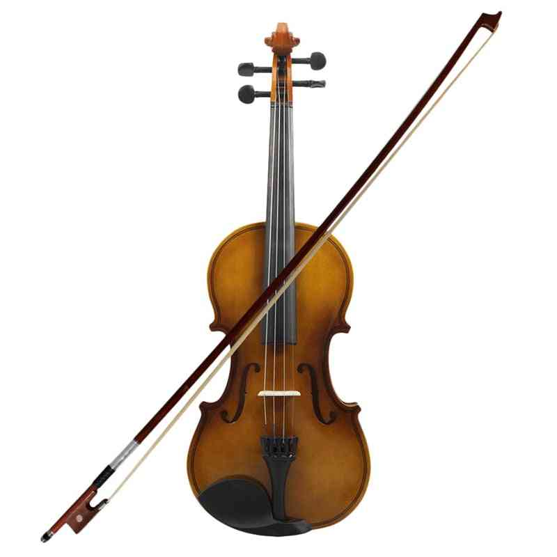 Acoustic Violin Fiddle Wood With Case Bow Rosin