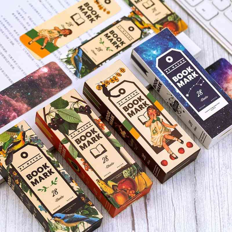 Girl Roaming Space Paper Bookmarks For Books