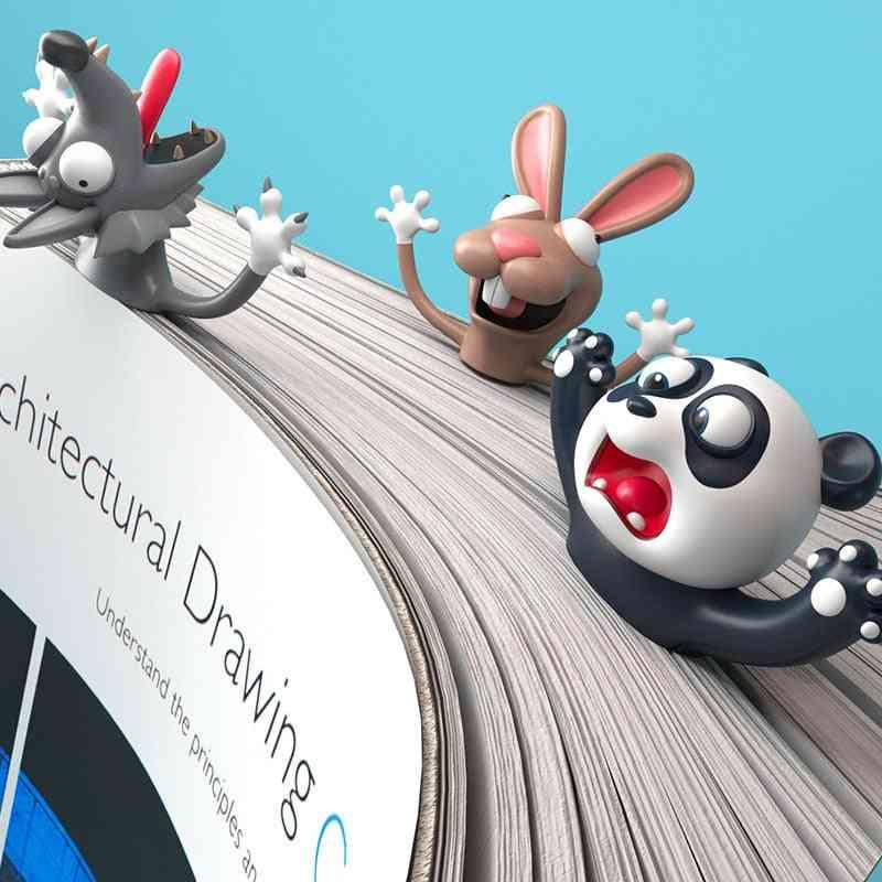 Cute Cartoon Shaped-pvc 3d Bookmarks