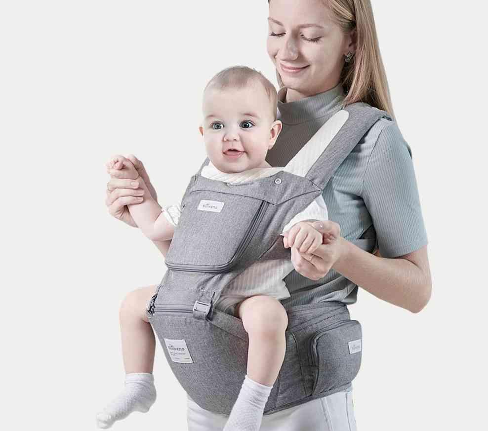 Ergonomic Design,  Infant Hip Seat-front Facing Backpack, Baby Carrier