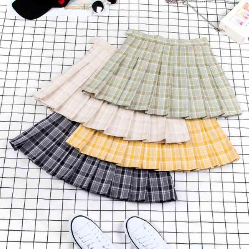 Pleated Pattern Sports Tennis/badminton Skirts
