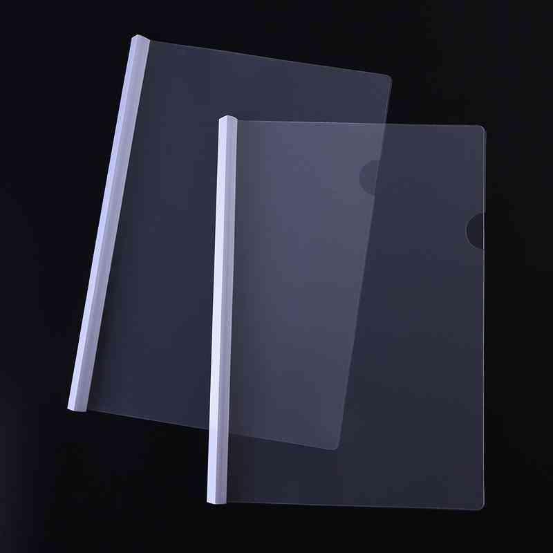 Transparent File Folder With Sliding Ba For Document/report Display