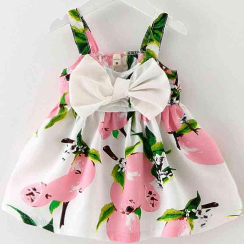 Girl Baby Dresses, Pattern Print, Lemon, Cartoon, Birthday Female, Summer Kids Clothes