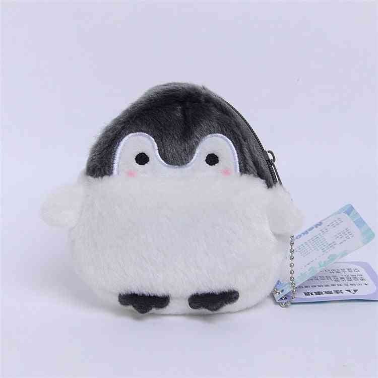 Cute Penguin Plush Purse Card Wallet Pendant Toy