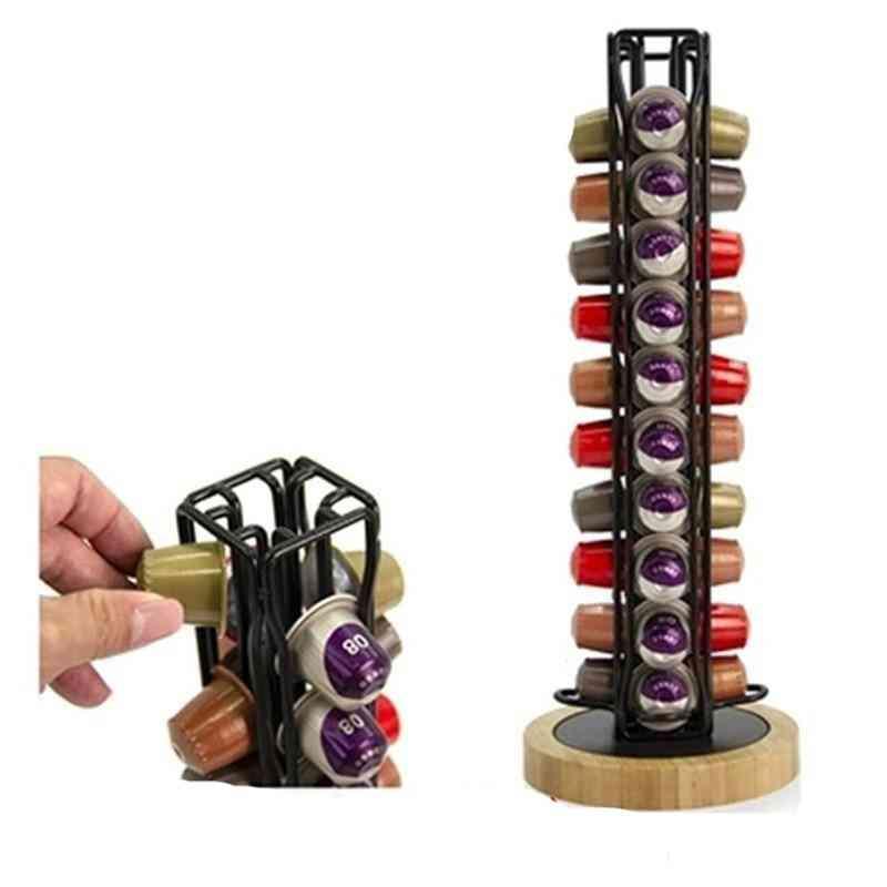360 Rotating 40 Capsule Coffee Pod Holder