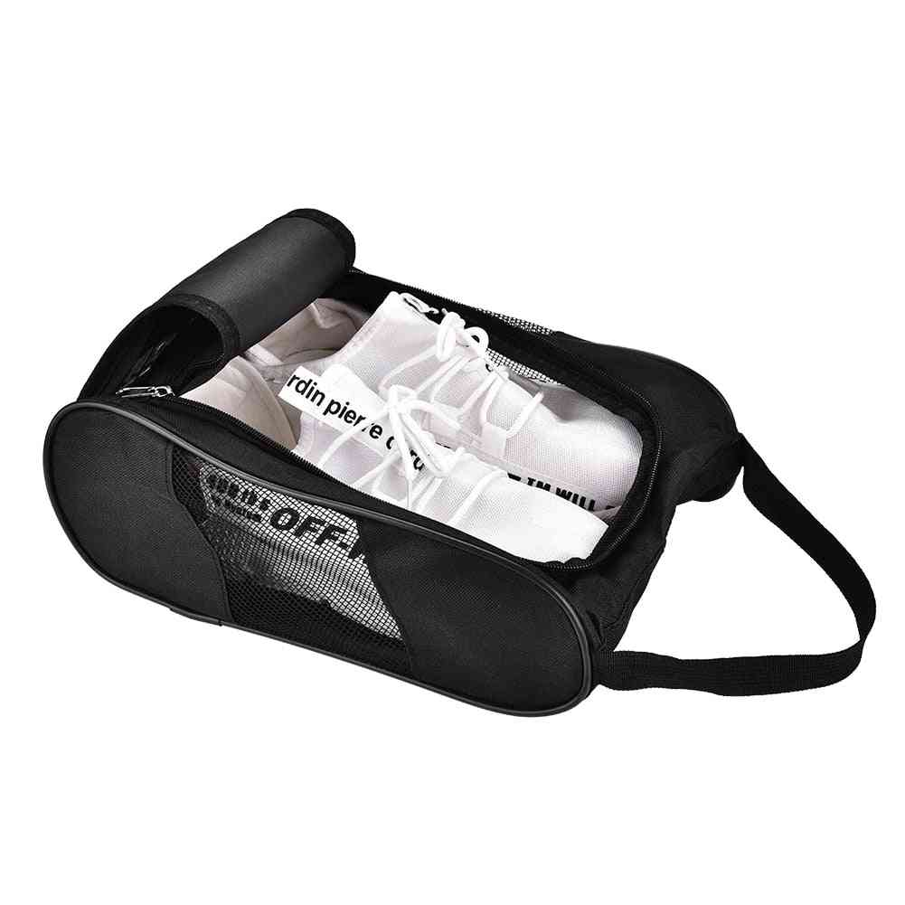 Portable Breathable Golf Shoes Zipped Sports Bag, Carrier Case Pocket Pouch