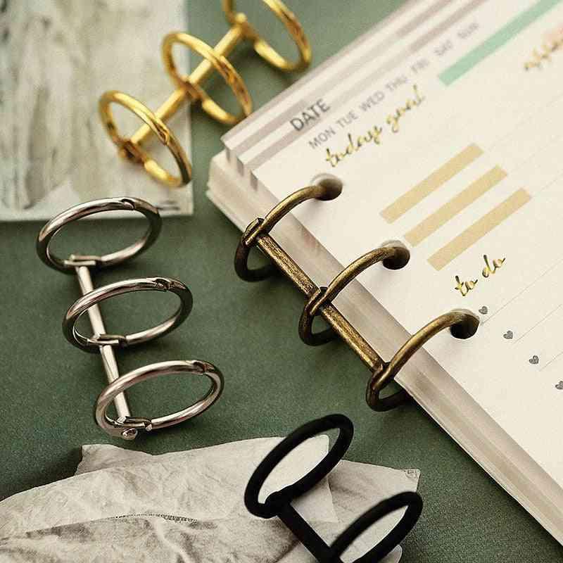 Creative Metal Loose Leaf Book Binder, Hinged Rings Scrapbook Clips