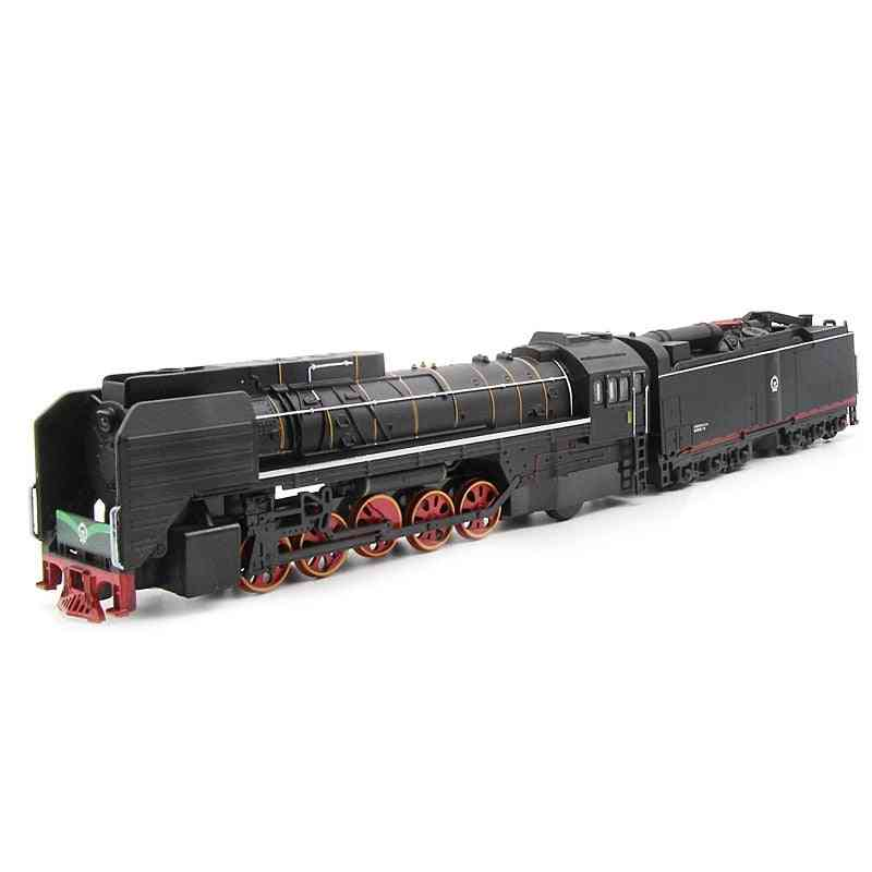 Steam Train Locomotive Alloy Model Toy, Cars Pull Back Sound Light For