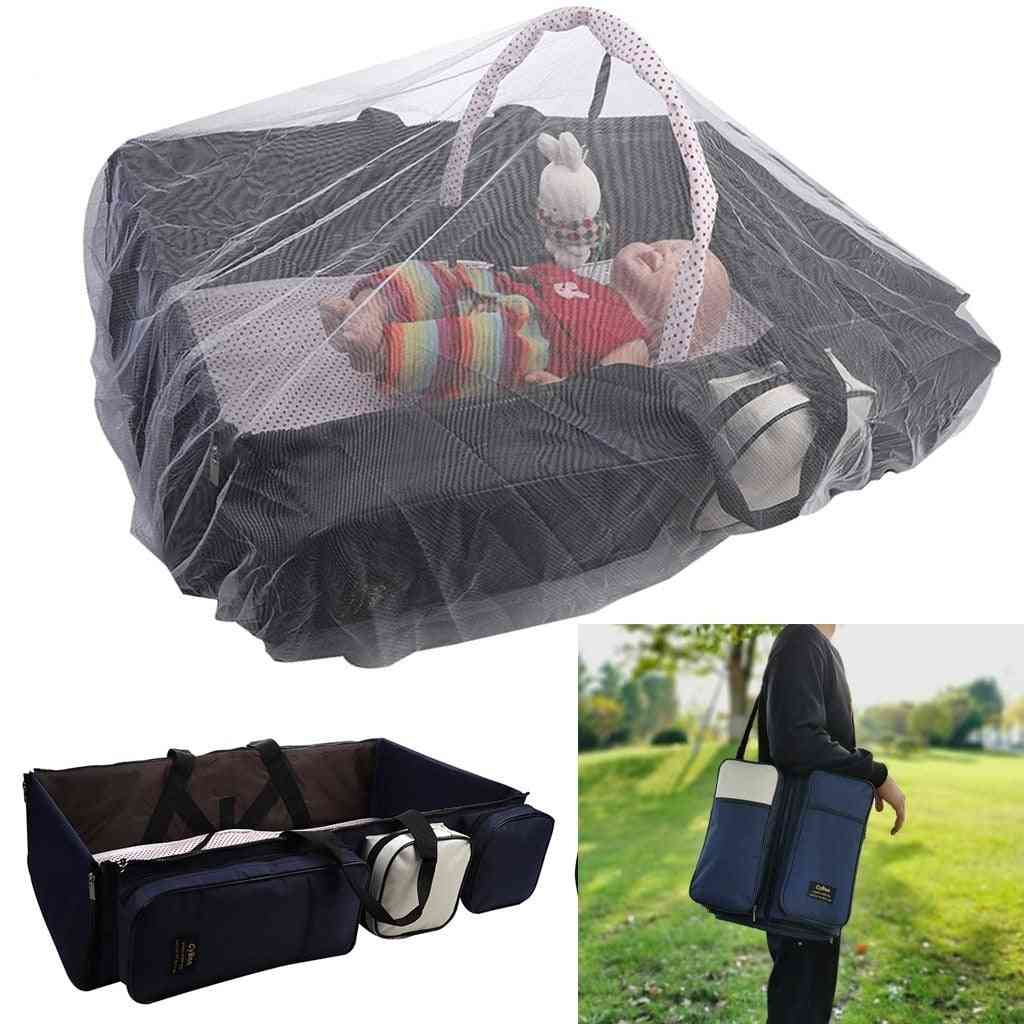 Women Pregnant Maternity Portable Multi-function Travel Bed Cot For Newborn, Mummy Urine Pad Folding Bag