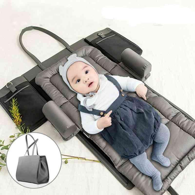 Portable Baby Crib, Multi-functional Nursery Bed