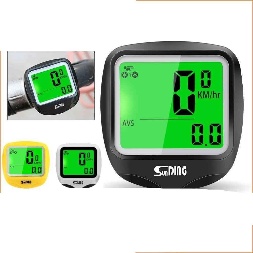 Sunding Sd-568ae Bike Computer Cycling Computers Bicycle Speedometer Wireless Waterproof Stopwatch Odometer Lcd Backlight Black