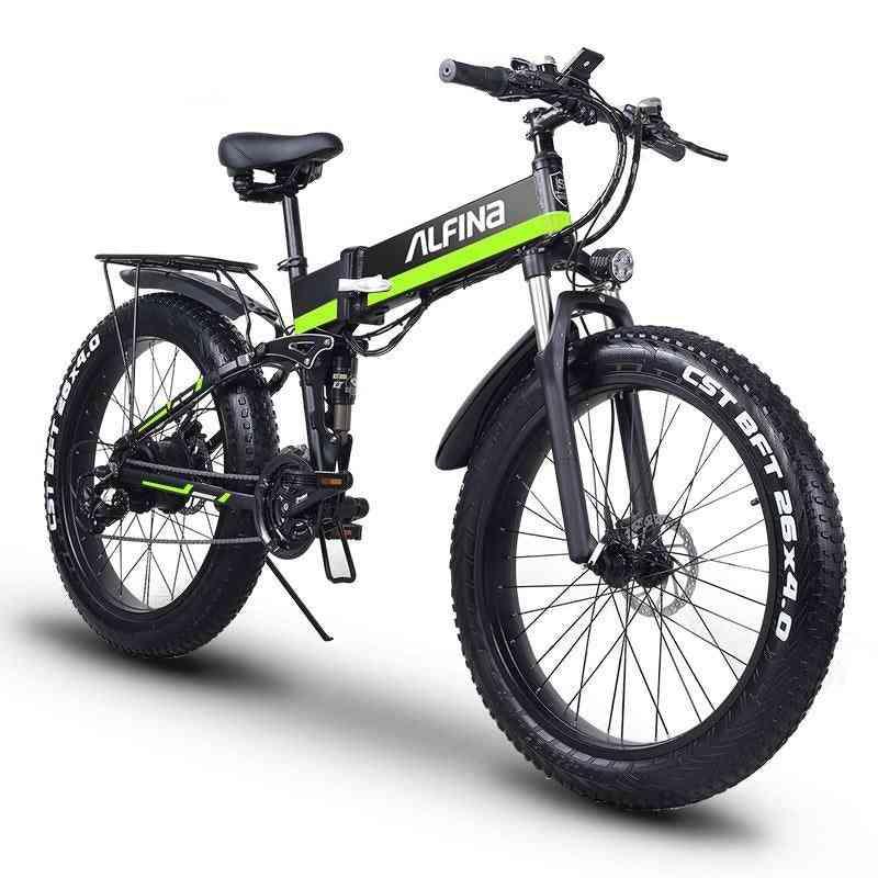 Electric Mountain Bike, Fat Tire Bicycle Beach E-bike
