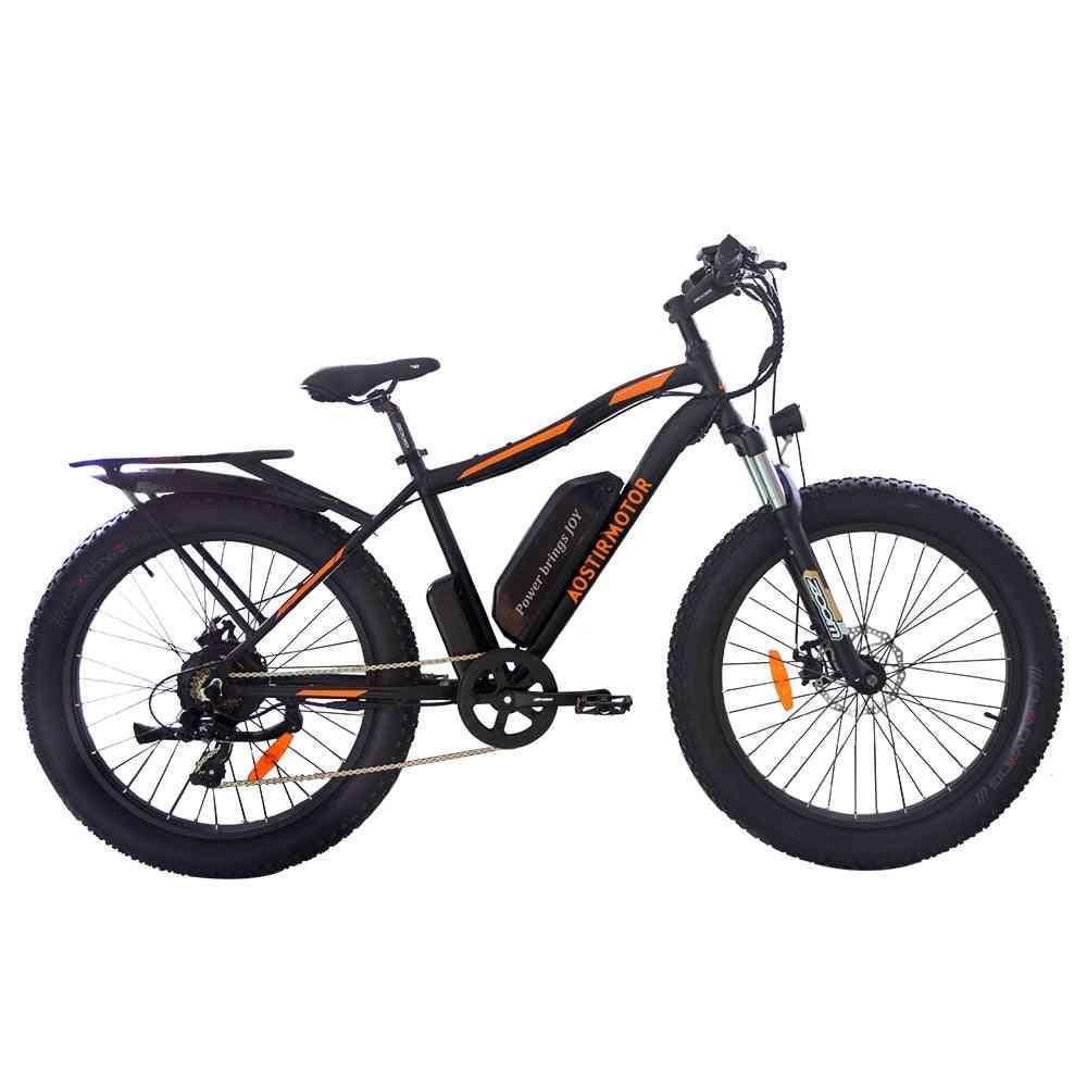 Electric Bike- 750w Snow Bike Electric Bicycle Mountain Bike,13ah Lithium Battery