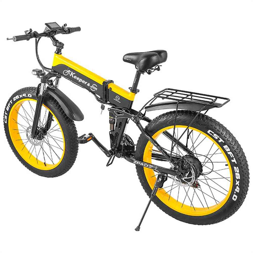 26 Inch Mountain Bike 1000w Folding Electric Bicycle, Utility Bike Beach Bike