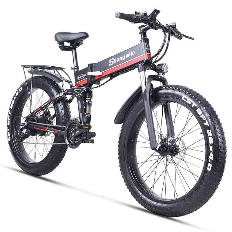 1000w Motor, 48 V Battery - Fat Tire, Super Level, Folding Electric Bicycle