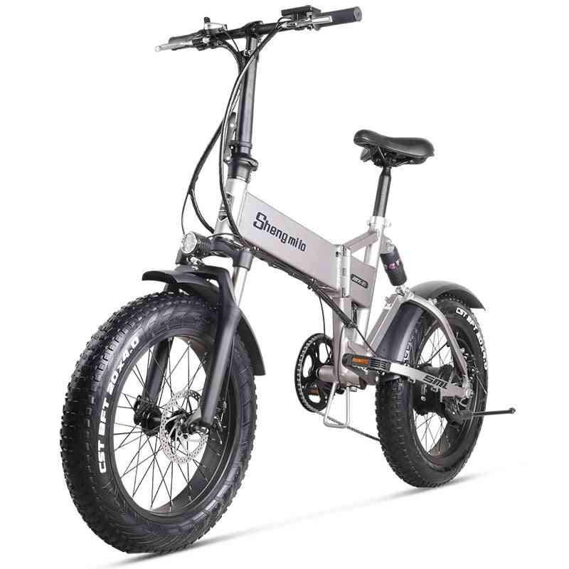 500w, 4.0, 48v Foldable Electric Mountain Bicycle