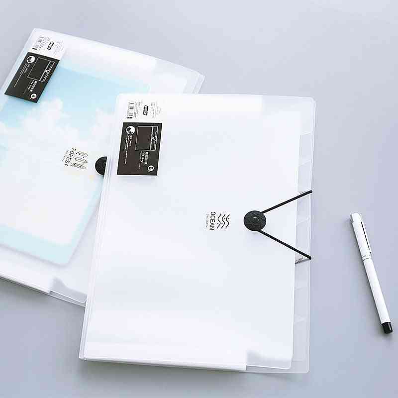 Office Folder Binder File Organizers Document Frosted Cover