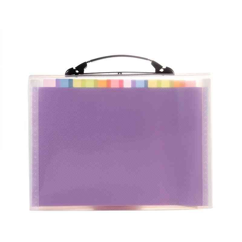 A4 Expanding File Folder Document Organizer Accordion Portable
