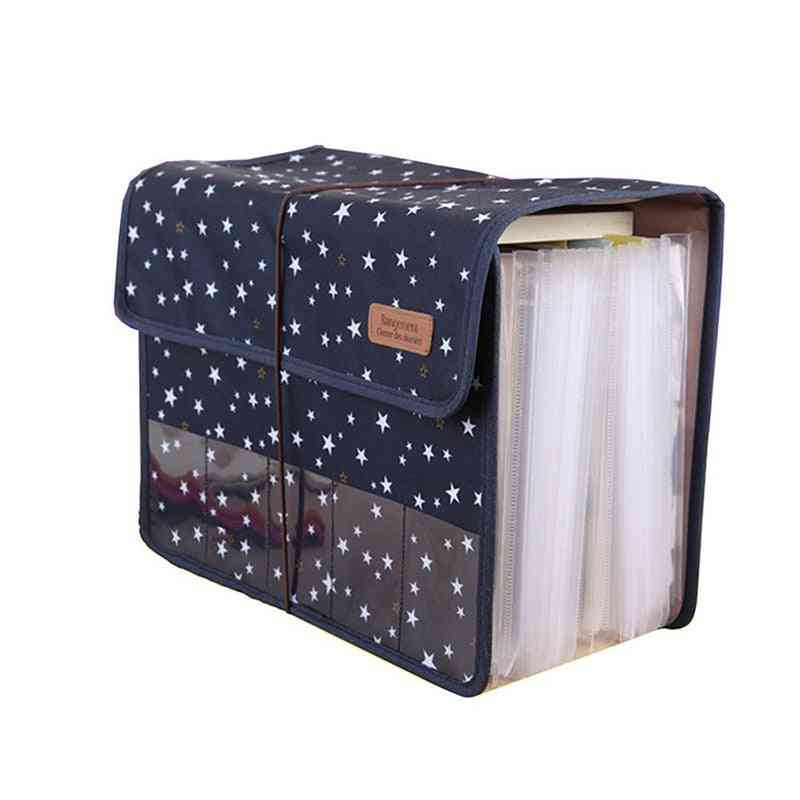 Portable, Expandable And With Large Capacity Document Folder