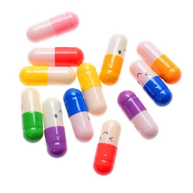 50 Pcs/lot Cute Expression Capsules, Love Pills Put In Wishing Drift Bottle