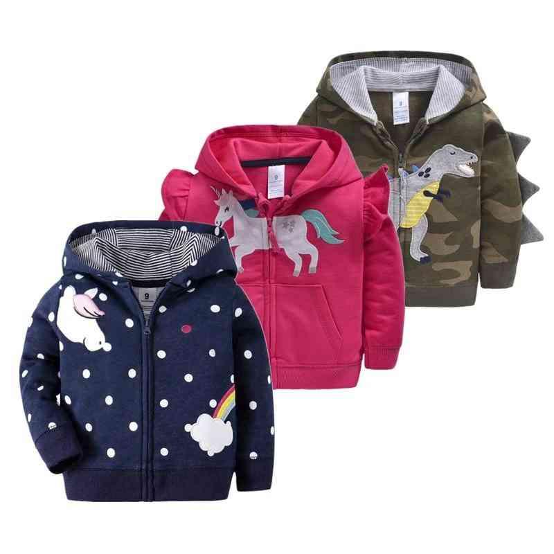 Spring Coat Hooded Jacket For Baby Girl &