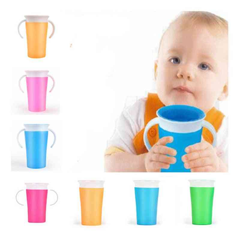 360 Degree Rotated Baby Learning Drinking Cup