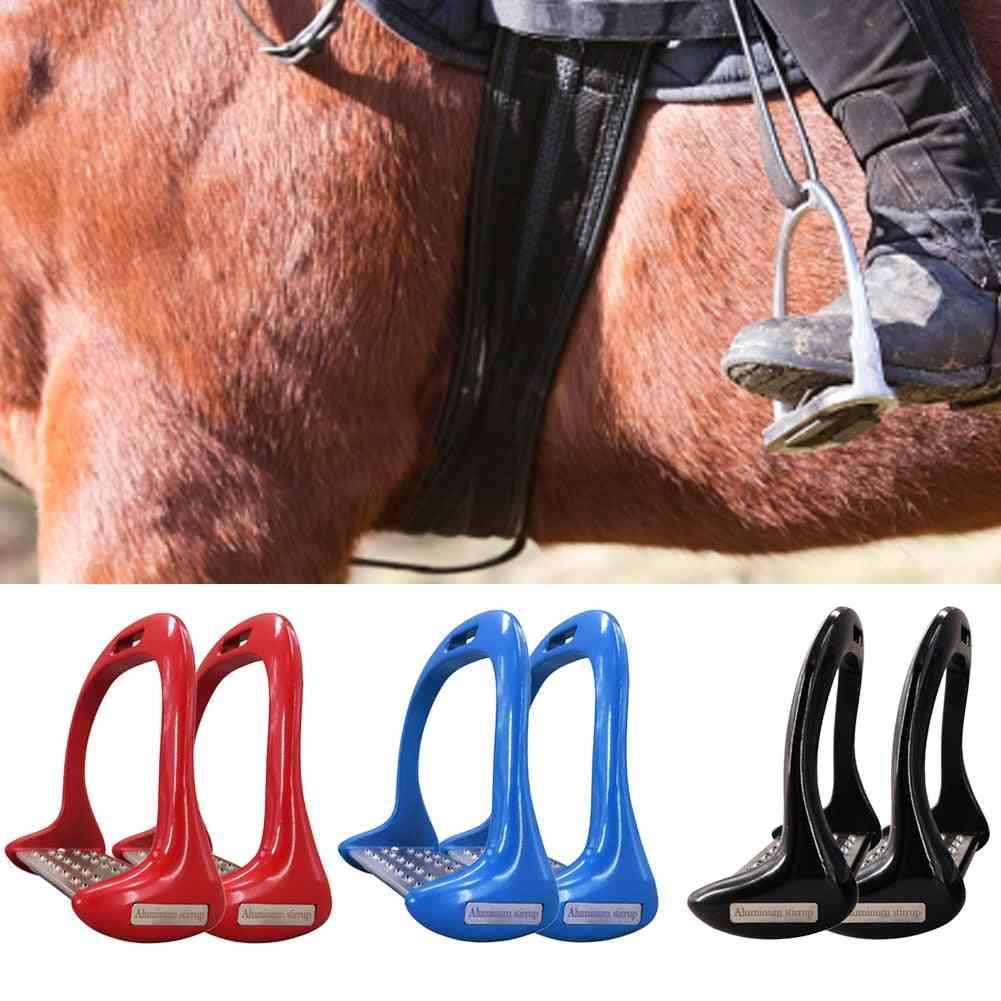 Pedal Equipment Horse Stirrups, Anti-slip Equestrian Safety Aluminium Alloy Riding Treads Lightweight Outdoor Sports