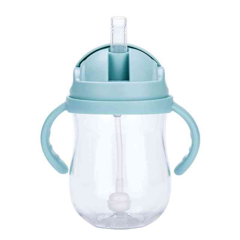 Newborn Baby Drink Cups Water Bottles, Drinking Sippy Cup With Straw Copo