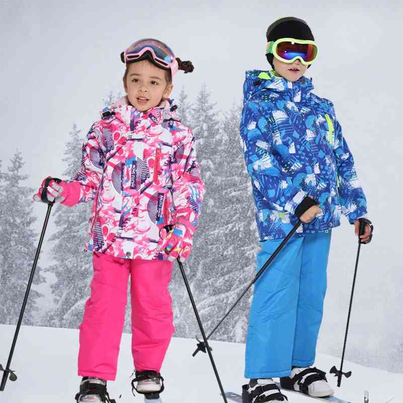 Boys / Winter Snow Snowboard Suit, Jackets And Pants Set