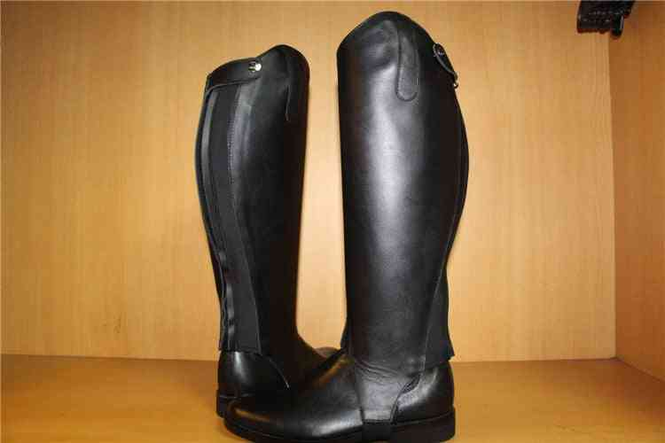 Half Chaps Horse Riding, Cow Leather Equestrian Equipment Genuine Halter Boots Breeches