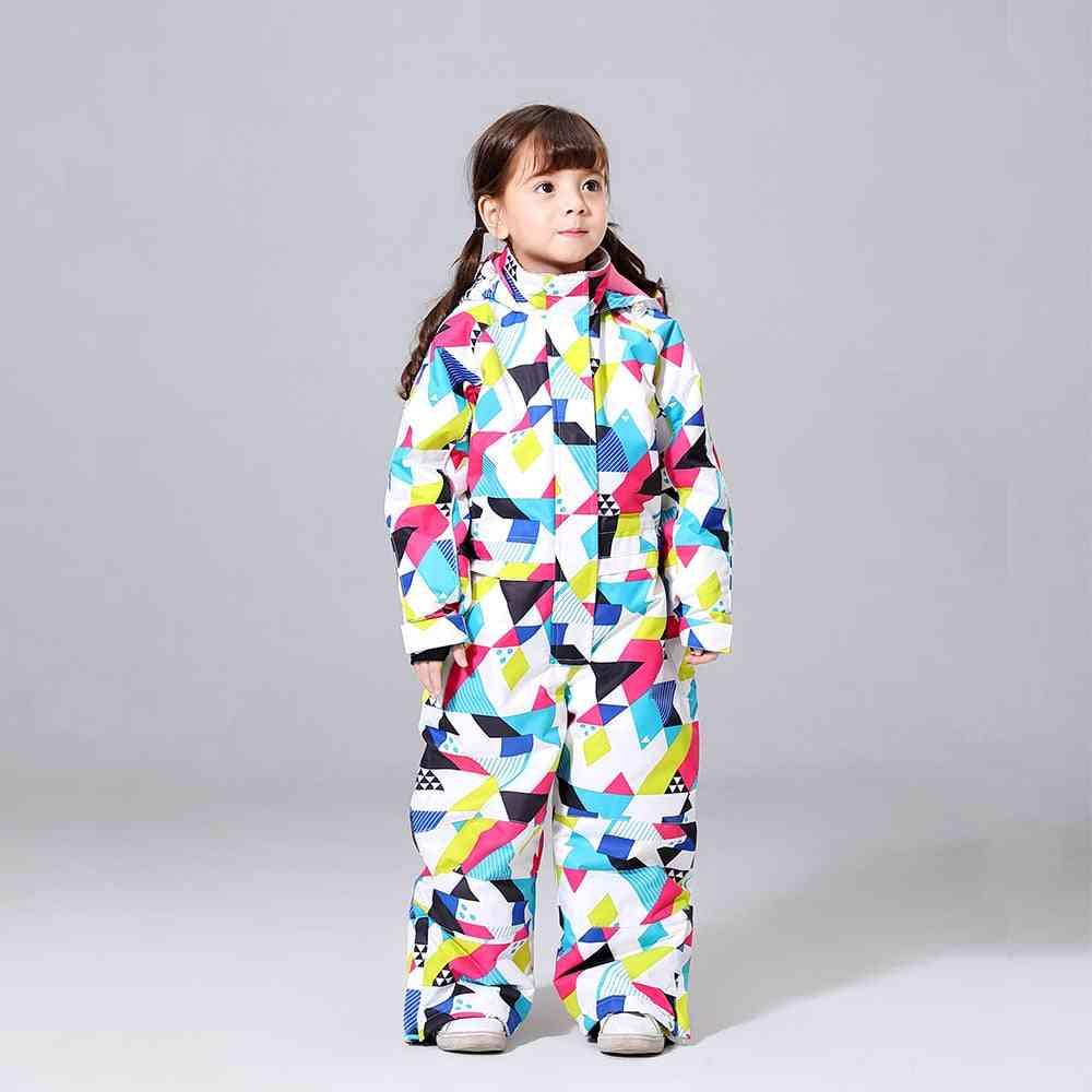 Children's  Warm Waterproof Ski Suit