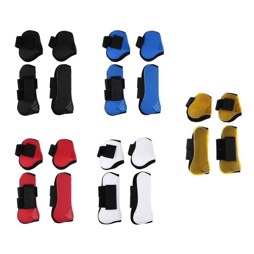 Front And Rear Leg Protection Wrap Boot Set