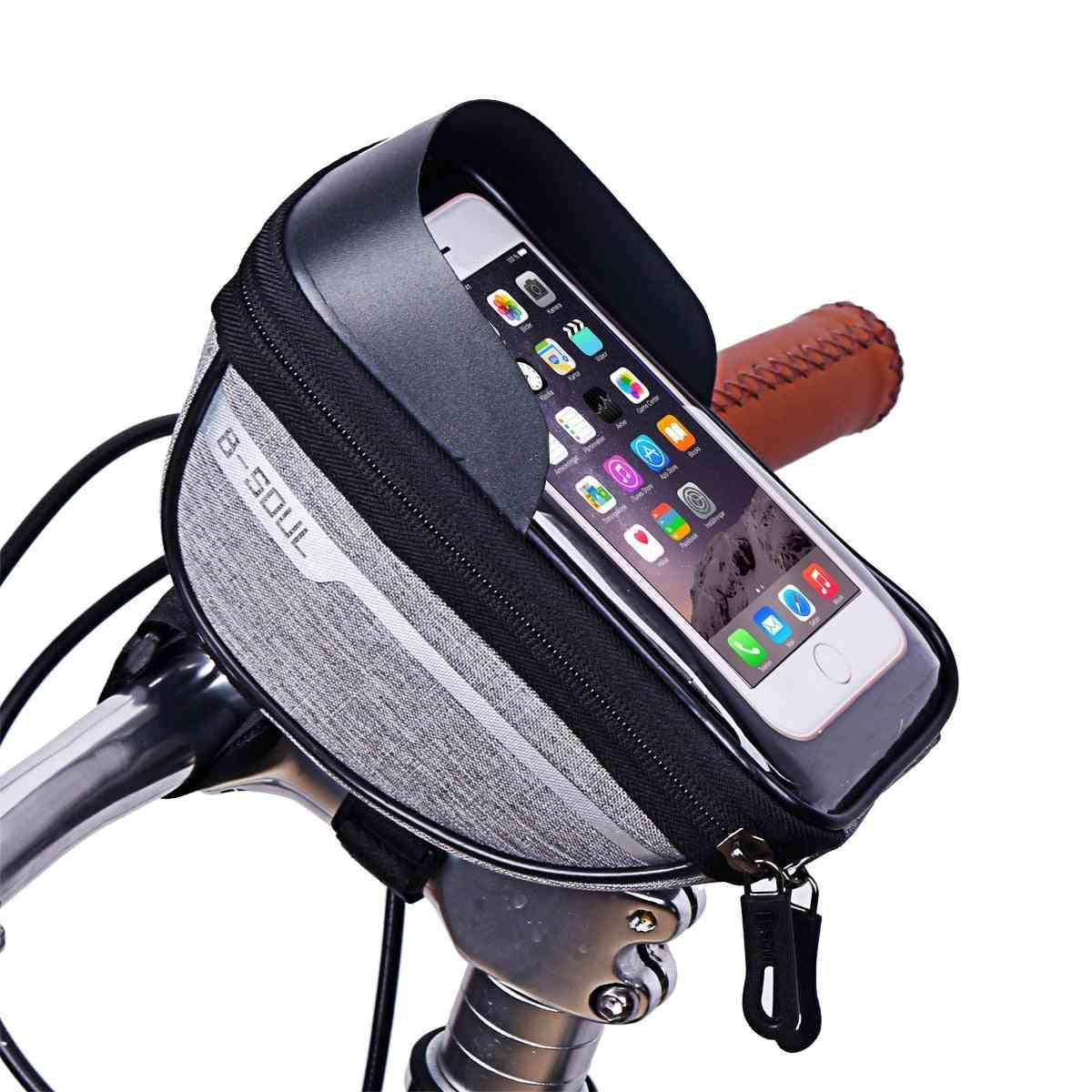 Cycling Bicycle / Bike Head Tube Handlebar, Cell Mobile Phone Bag Holder Case