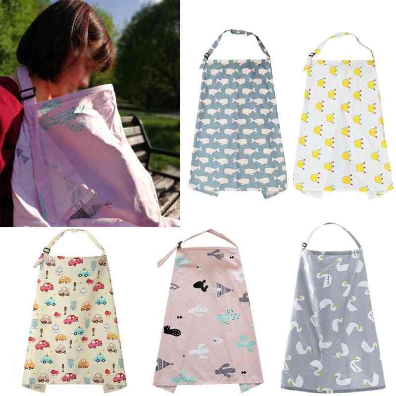 Breathable Baby Feeding Nursing Covers, Adjustable Privacy Apron