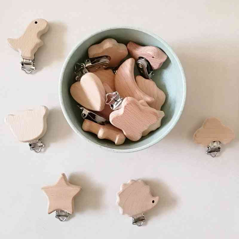 Lovely Wooden Pacifier Dummy Clips