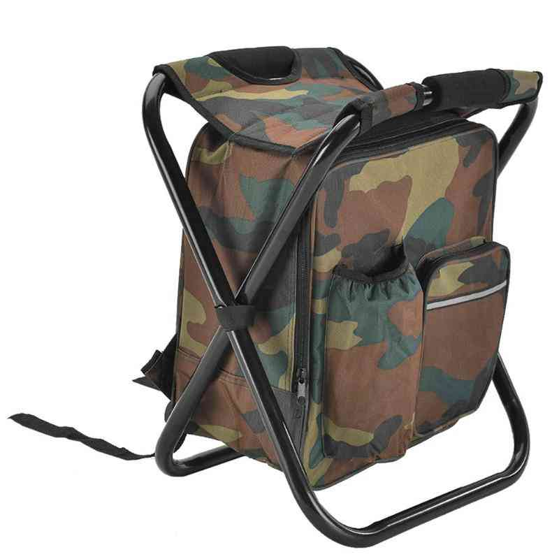 Outdoor Fishing Chair Table Bag, Folding Camping Stool