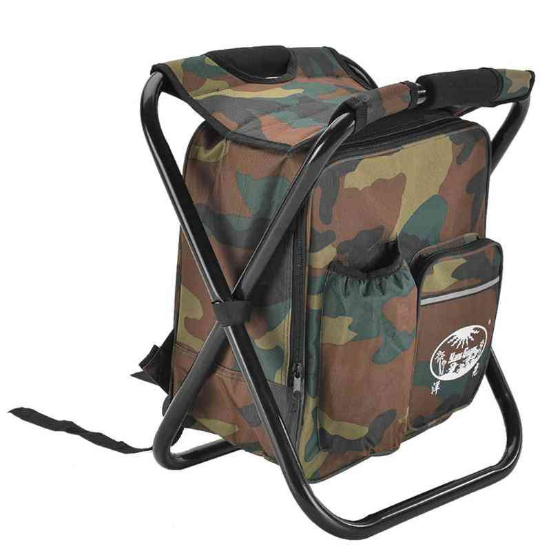 2 In 1 Folding Backpack Stool For Outdoor